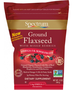 Spectrum Essentials Ground Flaxseed with Mixed Berries, 12 oz.