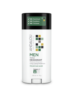 Andalou Naturals MEN Herbal Deodorant, Mountain Sage Scent, 2.65 oz.
