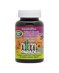 Nature's Plus Animal Parade Children's Chewable Multivitamin, Sugar Free, 90 Count