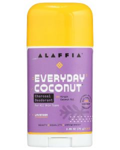 Alaffia Everyday Coconut Charcoal Deodorant, Lavender