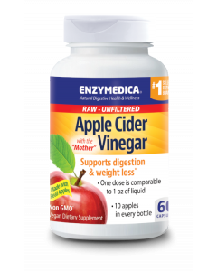 Enzymedica Apple Cider Vinegar with the Mother, 60 cp.