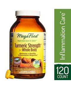 MegaFood Tumeric Strength for Whole Body, 120 Tablets