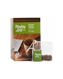 Mighty Leaf Organic Spring Jasmine Tea Bags, 15 Pouches