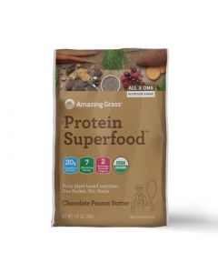 Amazing Grass Chocolate Peanut Butter Protein Superfood, Single Serving Packet