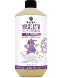 Alaffia Babies & Kids Shea Bubble Bath, Lemon Lavender, 32 fl. oz.