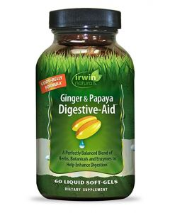 Irwin Naturals Ginger & Papaya Digestive-Aid, 60 Softgels