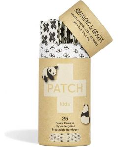 Patch Kids Organic Bamboo Adhesive Strip Bandages with Coconut Oil