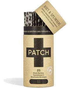 Patch Organic Bamboo Adhesive Strip Bandages with Activated Charcoal