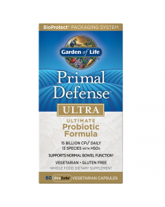 Garden of Life Primal Defense ULTRA Probiotic Formula, 60 Capsules