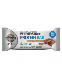 Garden of Life SPORT Organic Plant-Based Peanut Butter Chocolate Protein Bar, 12 Count