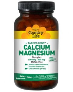 Country Life Calcium Magnesium Complex, 180 Tablets
