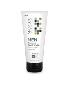 Andalou Naturals MEN Refreshing Face Wash, 6 fl. oz.