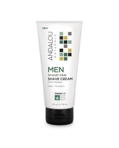 Andalou Naturals MEN Smooth Glide Shave Cream, 6 fl. oz.