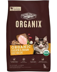 Castor & Pollux Organix Dry Cat Food, Chicken & Brown Rice