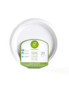 Repurpose 100% Compostable Plates, 9 in., 20 count
