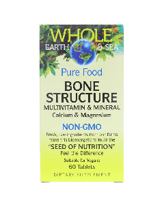 Natural Factors Whole Earth & Sea, Bone Structure Multivitamin & Mineral, 60 Tablets