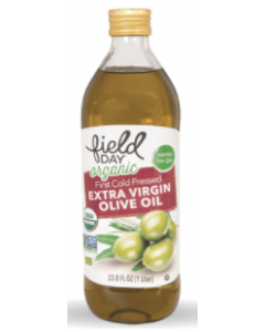 Field Day Organic Imported Extra Virgin Olive Oil, 1 Liter.
