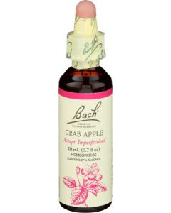 Bach Crab Apple Accept Imperfections Homeopathic Remedy,  20 ml