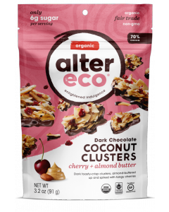 Alter Eco Cherry & Almond Butter Dark Chocolate Coconut Clusters