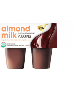 Zen Almond Milk Pudding, Chocolate, 4-Pack