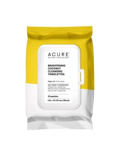 Acure Brilliantly Brightening Coconut Cleansing Towelettes, 30 Towelettes