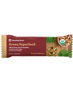 Amazing Grass Green Superfood Sweet and Savory Whole Fruit, Nut and Seed Bar