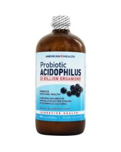 American Health Probiotic Acidophilus 20 Billion, Natural Blueberry Flavor, 16 oz.