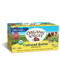 Organic Valley Unsalted Cultured Butter, 1 lb.