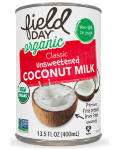 Field Day Organic Classic Unsweetened Coconut Milk, 13.5 oz.