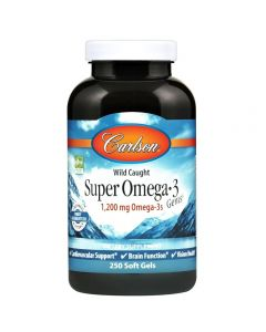 Carlson Super Omega-3 Gems, 1200mg, 250 Softgels
