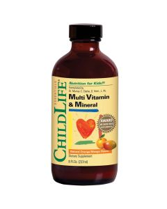 ChildLife Multi Vitamin & Mineral, Orange Mango Flavor, 8 fl. oz.
