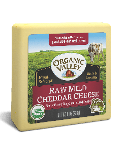 Organic Valley Raw Mild Cheddar Cheese, 8 oz.