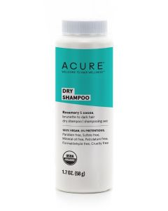 Acure Dry Shampoo, Brunette to Dark Hair, 1.7 oz.