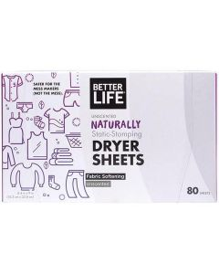 Better Life Dryer Sheets, Unscented