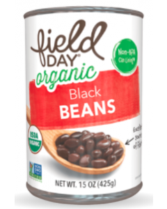Field Day Organic Black Beans, 15 oz.
