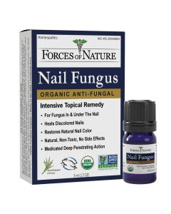 Forces of Nature Organic Nail Fungus Control, Regular Strength, 5 ml.