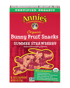 Annie's Organic Summer Strawberry Bunny Fruit Snacks, 5 Pouches