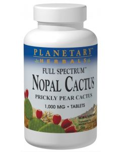 Planetary Formula Nopal Cactus, Full Spectrum 1,000 mg, 60 Tablets