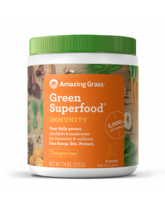 Amazing Grass Immunity Tangerine Green Superfood, 7.4 oz.