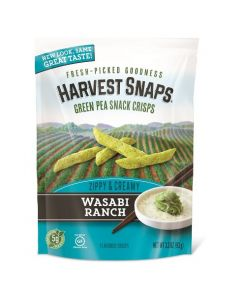 Harvest Snaps Wasabi Ranch Green Pea Snack Crisps
