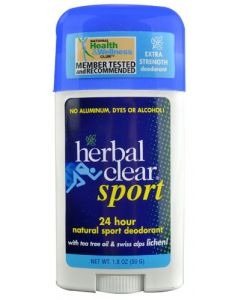 Herbal Clear Natural Sport Deodorant, 1.8 oz.