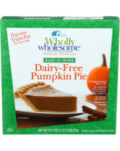 Wholly Wholesome Dairy-Free Pumpkin Pie