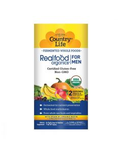 Country Life Daily Nutrition Realfood Organics for Men, 120 Tablets