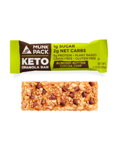Munk Pack Keto Granola Bar, Almond Butter Cocoa Chip