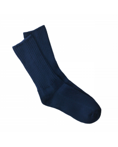 Maggie's Organic Classic Cotton Crew Sock, Navy Color
