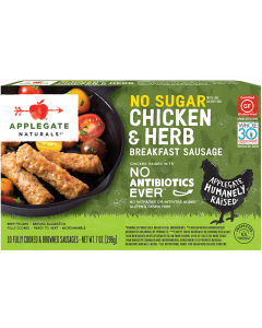 Applegate Naturals No Sugar Chicken & Herb Breakfast Sausage, 7 oz.
