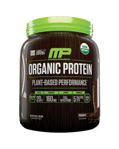 MusclePharm Organic Plant-Based Protein Powder, Chocolate Flavor, 1.35 lbs.