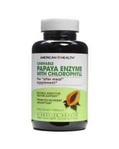 American Health Chewable Papaya Enzyme with Chlorophyll, 250 Tablets