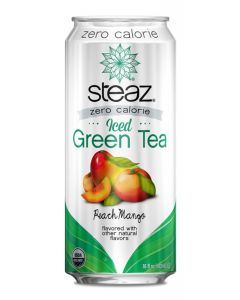 Steaz Zero Calorie Iced Green Tea, Peach Mango