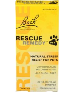 Bach Rescue Remedy Natural Stress Relief for Pets, 20 ml